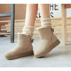 Pastel Pairs - Bow Short Snow Boots
