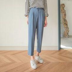 Seoul Fashion - Banded-Waist Dress Pants