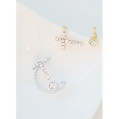 kitsch island - Cross Rhinestone Ear Cuff