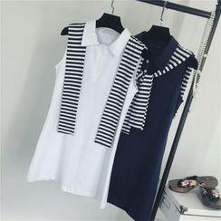 AIGIL - Sleeveless Polo Dress