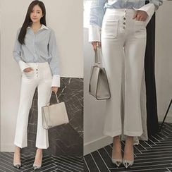 Clospace - Cropped Boot Cut Pants