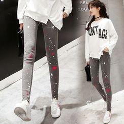 Au Naturel - Paint Splatter Print Leggings