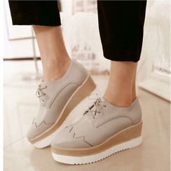 TULASI - Wedge Lace-Up Shoes
