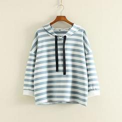三木社 - 条纹连帽衫