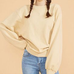 chuu - Crew-Neck Drop-Shoulder Sweatshirt