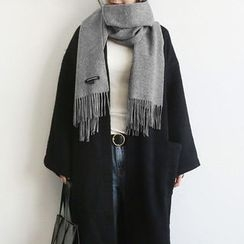 NANING9 - Wool Blend Fringed Scarf