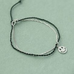 Love Generation - Smiley Face Sterling Silver Bracelet
