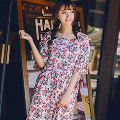 Wimi girls - Short-Sleeve Floral Dress