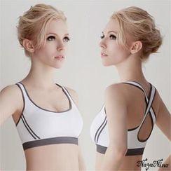 Naya Nina - 彈力舒適無縫交叉美背運動無鋼圈內衣