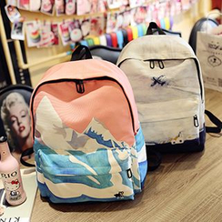 Youme - Print Canvas Backpack
