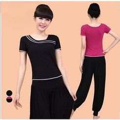 AUM - Yoga Set: Short-Sleeve Top + Pants