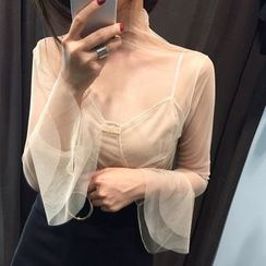 Alfie - Lace See Through Long-Sleeve Top