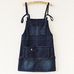 Munai - Pocket Denim Jumper Skirt