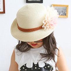 卿本佳人 - 小童花形稻草帽