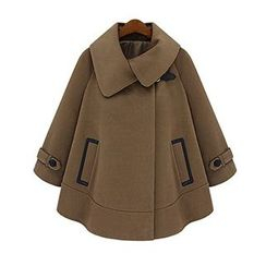 FURIFS - Wool Cape Coat