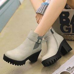 Gizmal Boots - 厚底粗跟短靴