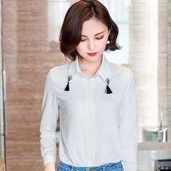 Eferu - 缀饰领长袖衬衫