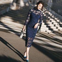Lovi - Crochet Midi Sheath Dress