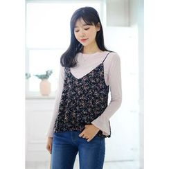 DEEPNY - Sleeveless Floral Print Top