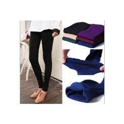 SUYISODA - Brushed Fleece-Lined Leggings