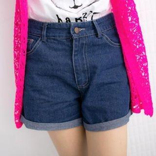 Tokyo Fashion - Cuffed Denim Shorts