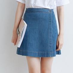Forest Girl - Denim A-Line Skirt
