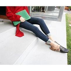 MARSHMALLOW - Maternity Cuff-Hem Jeans