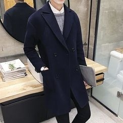 Pinth - Notch Lapel Double Breasted Coat
