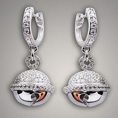 Nanazi Jewelry - Rhinestone Sterling Silver Drop Earrings
