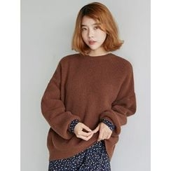 FROMBEGINNING - Two-Way Wool Blend Knit Top