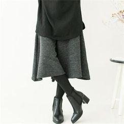 GLAM12 - Inset Knit Pants Leggings