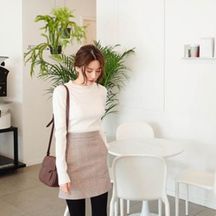 mimi&didi - Plaid A-Line Mini Skirt