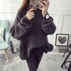 Qimi - 粗织混色长毛衣