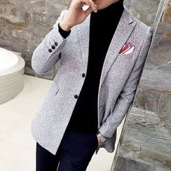 Bay Go Mall - Single-Breasted Blazer