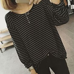 Eva Fashion - Stripe Long-Sleeve T-shirt