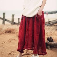 Calo Rosa - 麻布长款裙