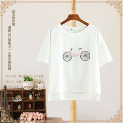 Vateddy - Embroidered Short Sleeve T-Shirt