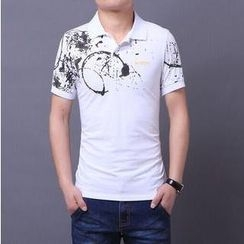 JIBOVILLE - Print Polo Shirt
