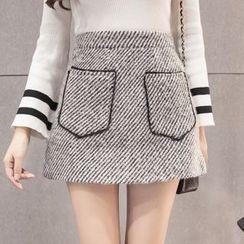 Maine - 前口袋A字裙