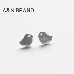 AINIAN - 925 Sterling Silver Bird Earrings