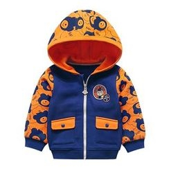 Ansel's - Kids Cartoon Print Hooded Jacket