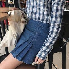 CosmoCorner - Denim A-Line Skirt