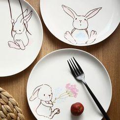 Hashi - Rabbit Ceramic Plate