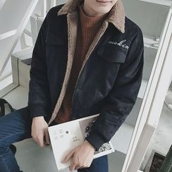 Arthur Look - 刺繡人造皮夾克