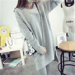 FR - Plain Long Sweater