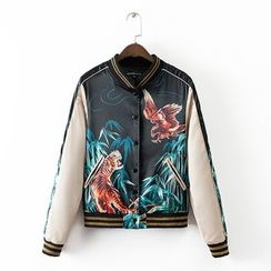 Neeya - Tiger Print Baseball Jacket