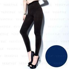 V.VIENNA - 100D Fleece-Lined 9/ Legging (Blue)