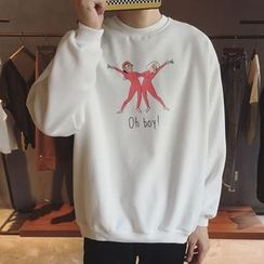 Streetstar - Cartoon Print Sweatshirt