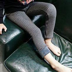 Madou - Kids Fleece-Lined Striped Pants