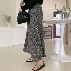Miamasvin - Tiered-Ruffled Long Skirt